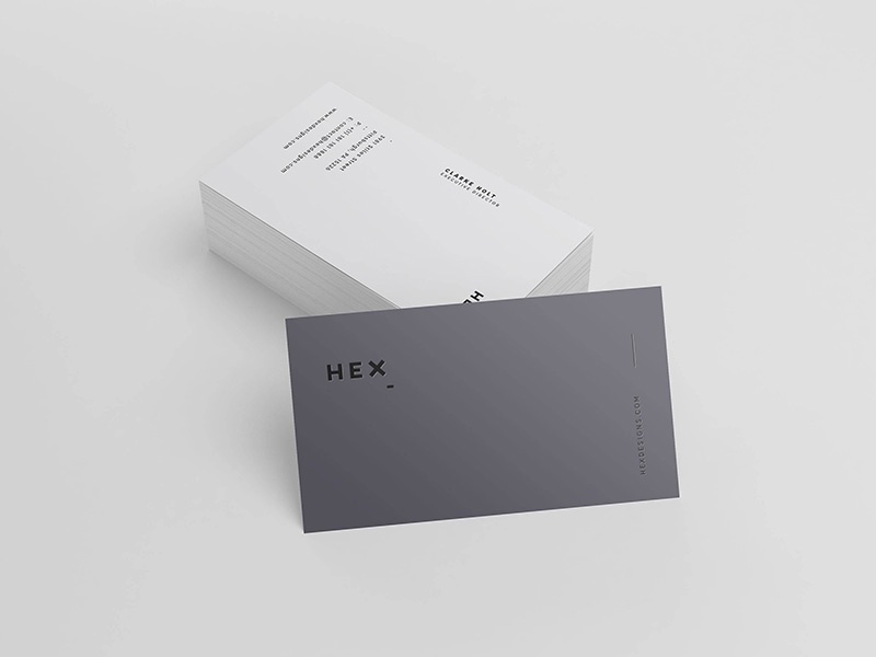 Download Freebie: HEX Business Card Template