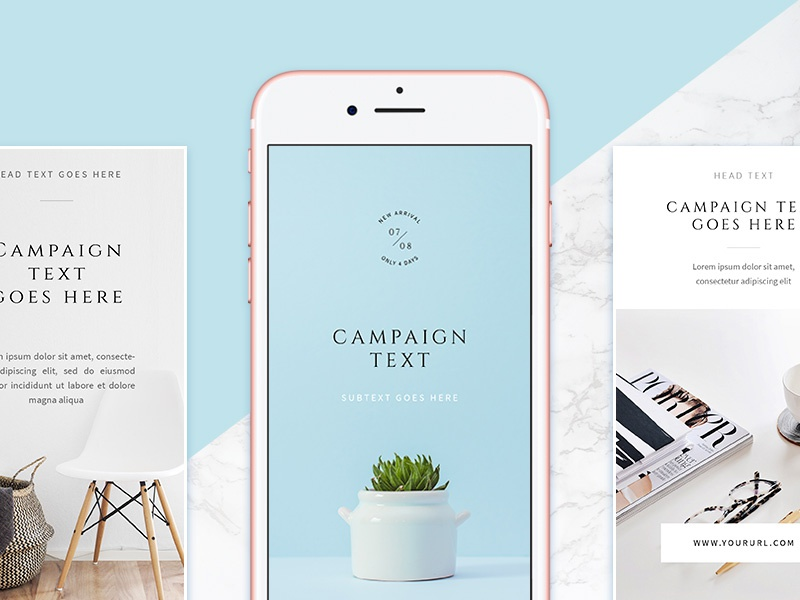 Download Freebie: White Instagram Stories Pack