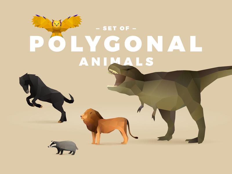 Freebie: Polygonal Animals Set