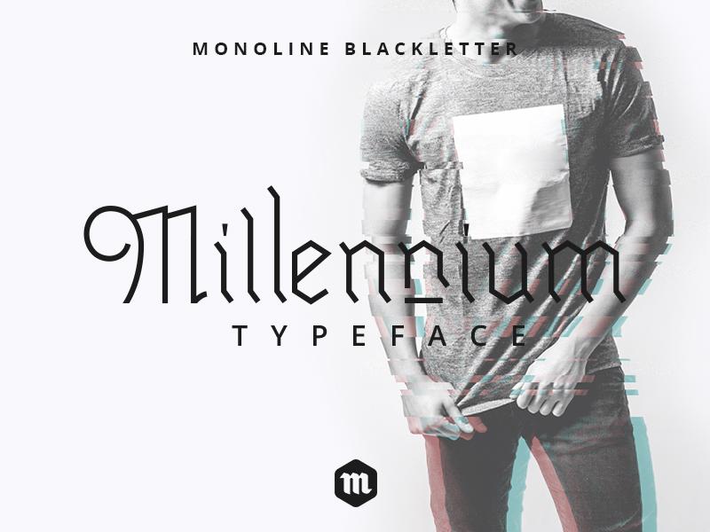 Freebie: Millennium Blackletter Typeface