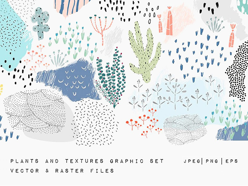 Download Freebie: Vector Plants and Textures