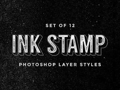 Ink Stamp Layer Styles download vintage grunge text effects effect add-ons add-on layer style pixelbuddha
