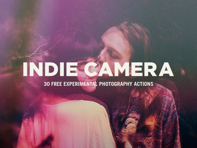 Freebie: Indie Camera Photoshop Actions effect photography photo photoshop action pixelbuddha freebie free