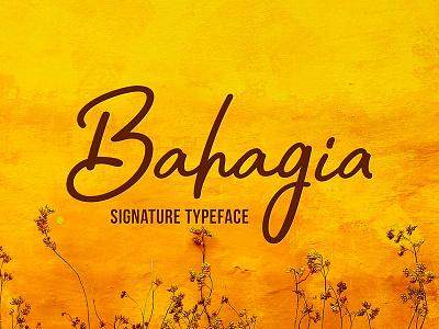 Freebie: Bahagia Typeface signature fonts typeface font pixelbuddha freebie free