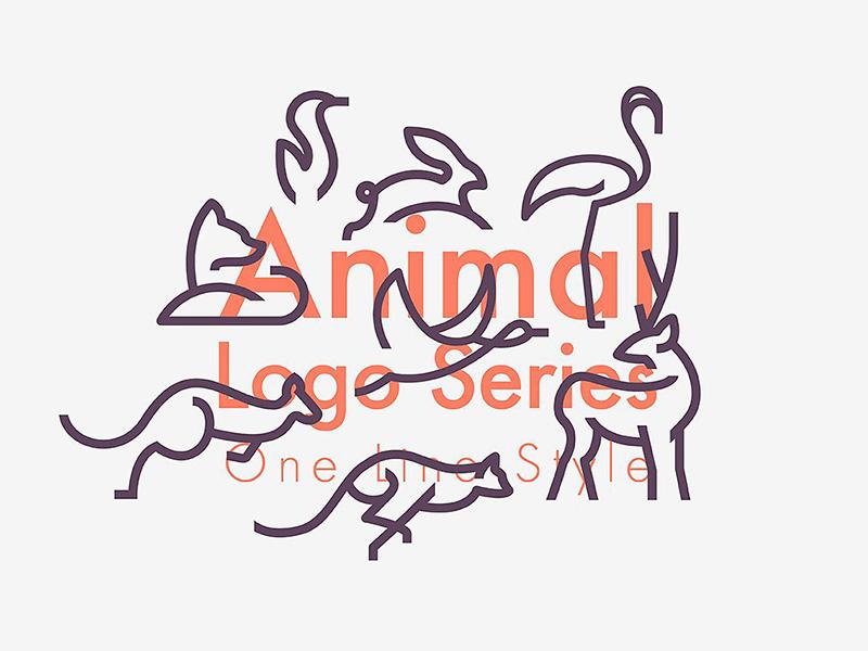 Download Freebie: Line Animals Logo Bundle