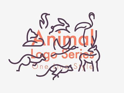 Freebie: Line Animals Logo Bundle templates bird kangaroo fox icons line logo animals pixelbuddha freebie free