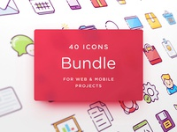 Freebie: Web & Mobile Icons Bundle