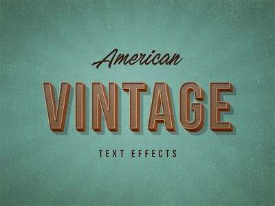 Freebie: American Vintage Text Effects layer style effects text effect vintage pixelbuddha freebie free
