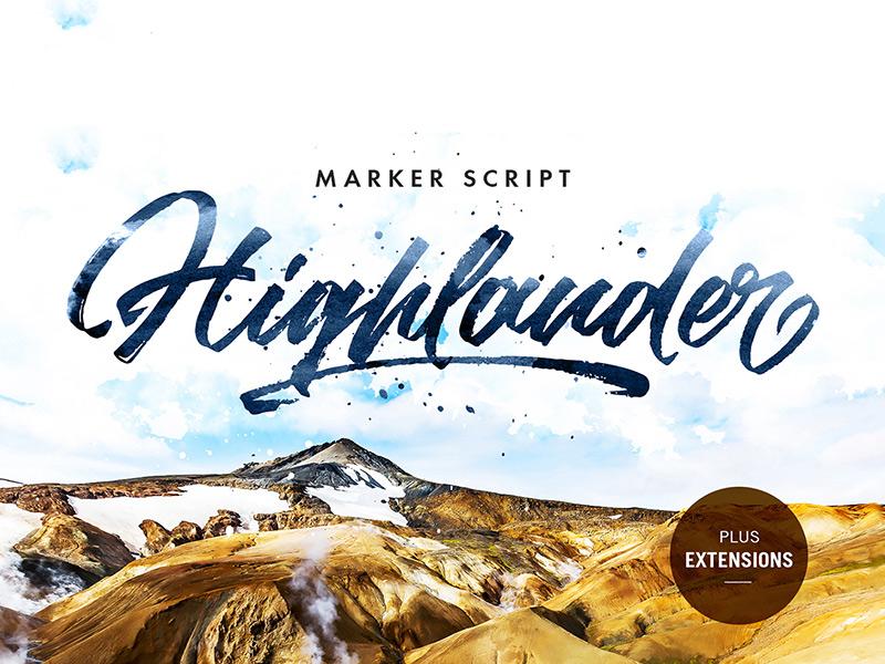 Freebie: Highlander Marker Script typeface font handletter handcrafted script pixelbuddha freebie free