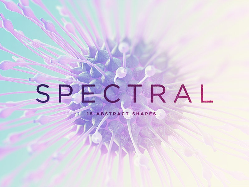 Freebie: Spectral Microworld Shapes elements spectral cosmic abstract shapes pixelbuddha freebie free