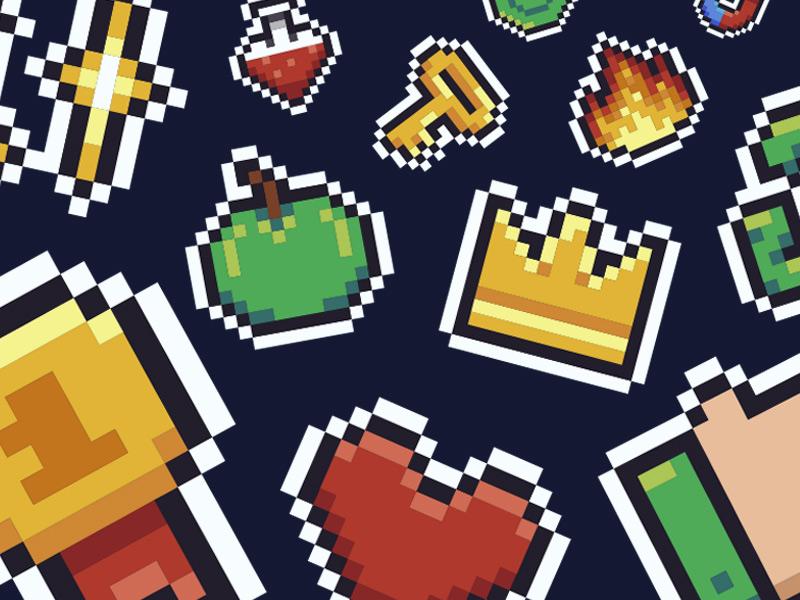 Freebie: Mario Pixel Icon Collection 8bit icons pixel art mario pixelbuddha freebie free