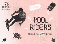 Pool Riders Typeface & Bonus Vectors