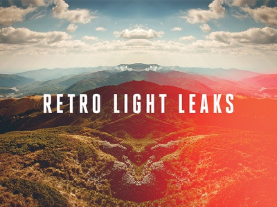 Freebie: Retro Light Leaks Set vintage effects photo light retro freebie free pixelbuddha