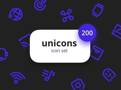 Freebie: Unicons Icon Set