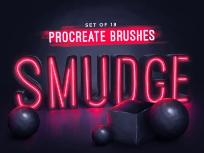 Procreate Smudge Brushes download drawing precreate brushes pencil watercolor ink charcoal