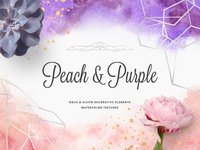 Freebie: Peach & Purple Artistic Toolkit