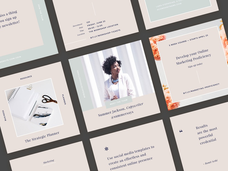 Download Freebie: Hepburn Instagram Templates Kit