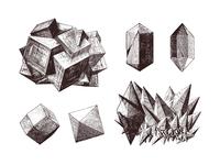 Gems & Stones Vector Illustrations Set #2