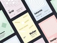 Freebie: Minimalistic Poster Templates