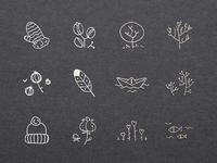Sweet Doodled Logo Elements #3