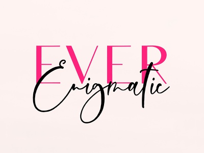 Ever Enigmatic Font Duo download pixelbuddha fashion serif typography duo font script modern