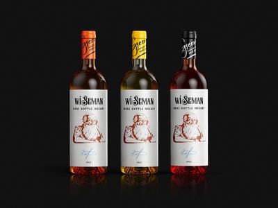 Sauvignon Wine Bottle Mockup