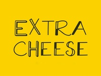 Freebie: Extra Cheese Font Collection