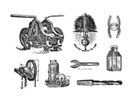 Freebie: Industrial Vector Illustrations Set