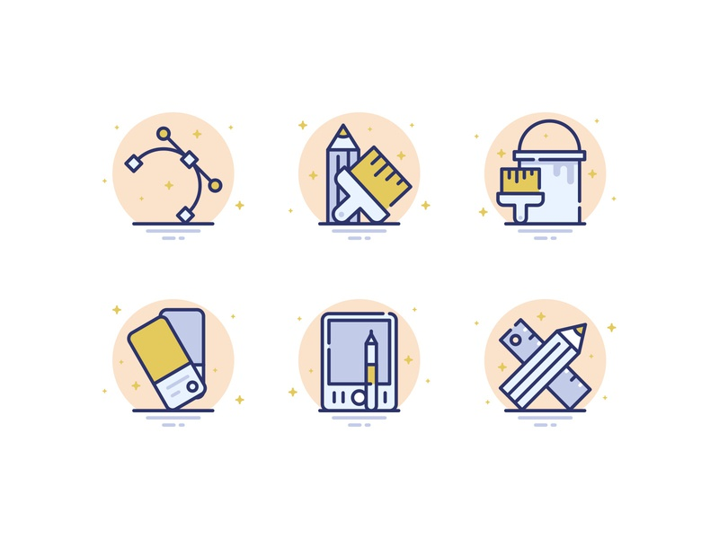 25 Design & Shapes Icons #3 icons vector flat line design tools shapes architechture svg