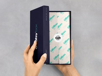 Paper Gift Box Mockup #3