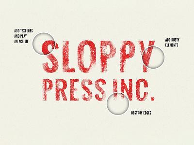 Freebie: Sloppy Press Photoshop Layer Styles pixelbuddha freebie free vintage typeface effect layer style sloppy press retro
