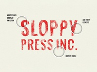 Freebie: Sloppy Press Photoshop Layer Styles