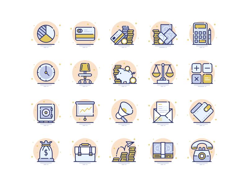 Freebie: Business Flat Icons Kit finance svg flat business vector icons free freebie pixelbuddha