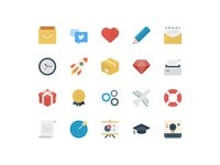 Basic Flat Icons Set
