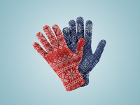 Winter Gloves Mockup Set #2