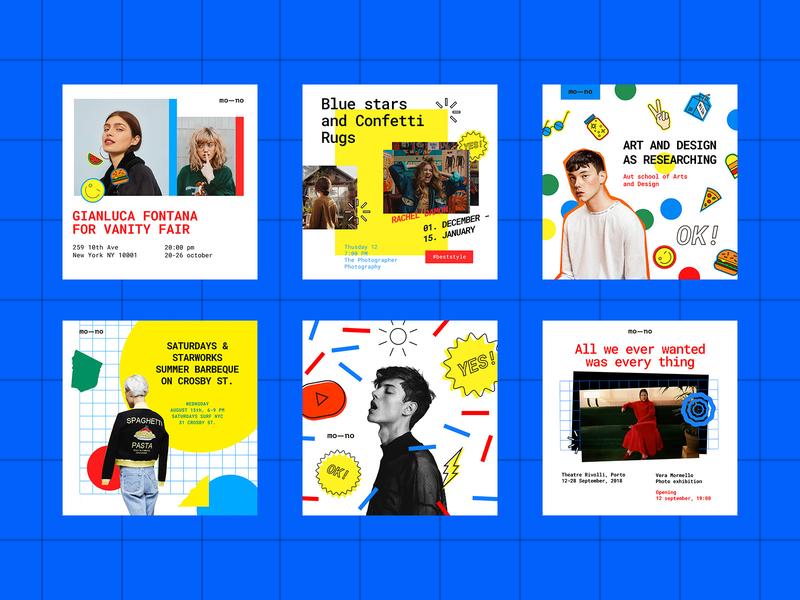 Mono Instagram Templates Kit #6 download facebook post bloger banner media social kit template templates intagram pixelbuddha icons