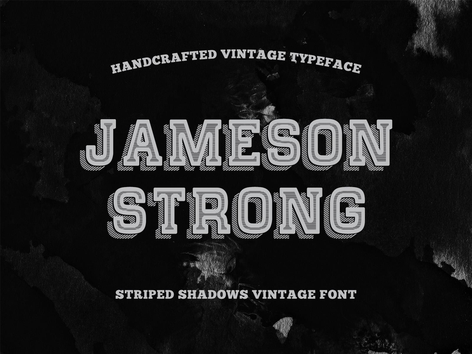 Shadow stripes vintage typeface