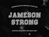 Freebie: Shadow Stripes Vintage Typeface