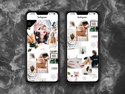 Bad Instagram Puzzle Templates download psd fashion moodboard post grid puzzle instagram template pixelbuddha