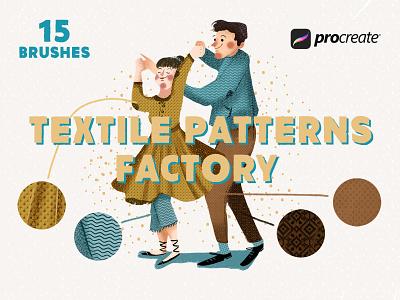 Freebie: Textile Factory Procreate Brushes drawing textile procreate brushes brushes procreate app procreate free freebie pixelbuddha
