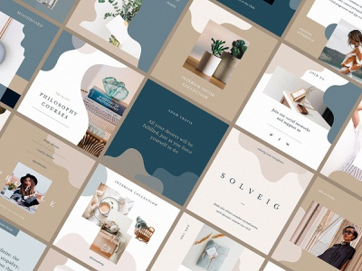 Solveig Social Media Templates download templates style social pinterest pack media kit media instagram facebook clean