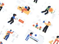 Freebie: Unruly Landing Page Illustrations