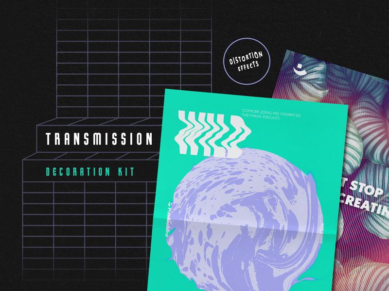 Transmission Warp Text Effects download pixelbuddha photocopy warp distorted effect distortion mesh shape mesh vector illustrator glitch
