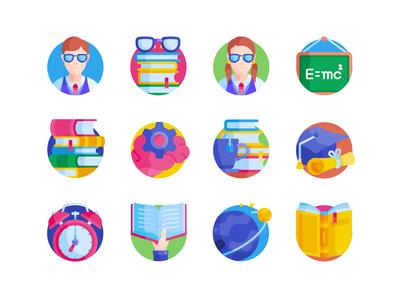 Freebie: Nerd Free Flat Icons