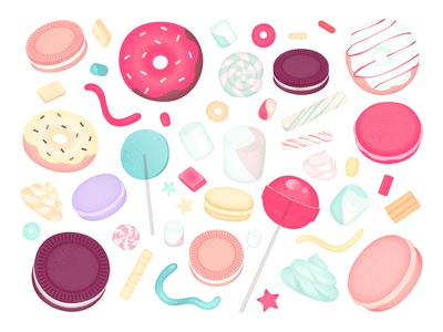 Freebie: Gummy Graphic Elements