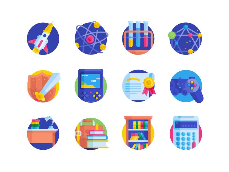 Freebie: Nerd Free Flat Icons icons free flat svg vector nerd science books avatar education freebie pixelbuddha
