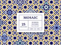 Freebie: Mosaic Patterns Vector Set