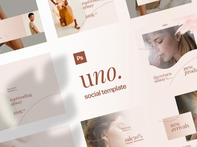 Freebie: Uno Social Media Templates psd template facebook media instagram templates social free freebie pixelbuddha