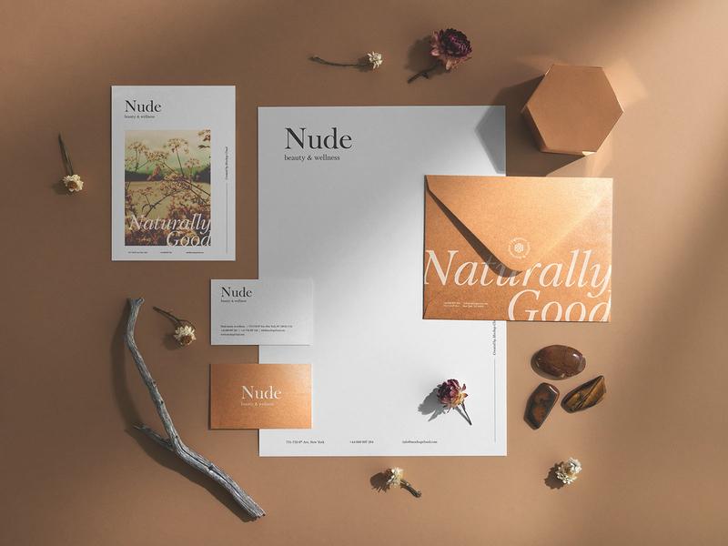 Nude Branding Mockups logo nature envelope download psd stationery print paper canvas business card mockups mockup branding
