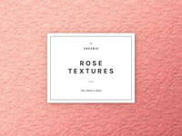 Freebie: Rose Gold Foil Textures